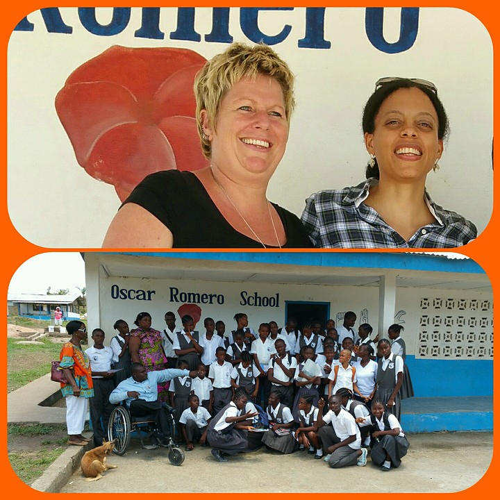 Mineke foundation en Tonia Dabwe
