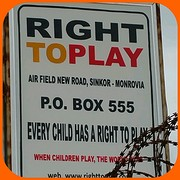 Right to play  Monrovia