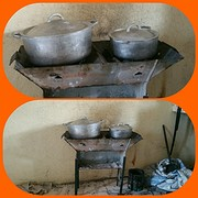 koken op houtskool