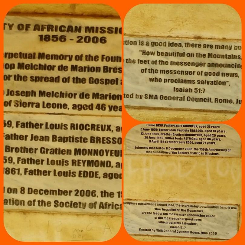 Het graf van onze founder Marion Bresillac