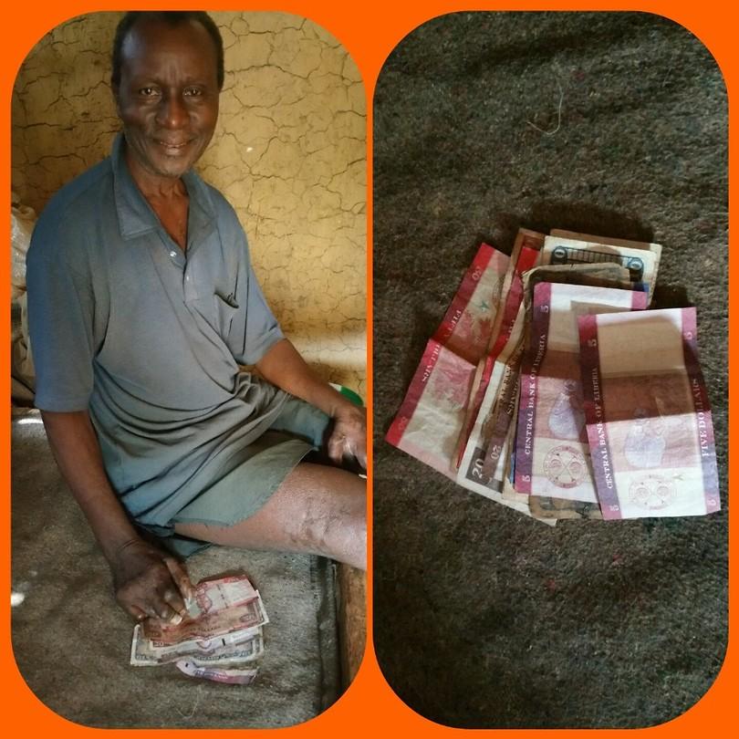 Siaka met zijn business geld