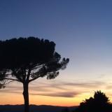 Zonsondergang in Volterra