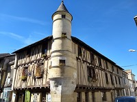Mooie gebouwen in Sainte Foy la Grande