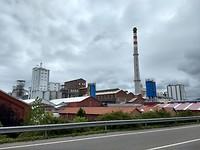 Het grote fabriekscomplex van Solvay