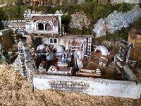 Detail uit grote miniatuur voorstelling van de heilige week