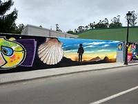 Straatkunst in Pedrouzo
