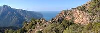 Mooi uitzicht op weg naar de Bocca di Larata