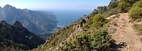 Uitzicht met de baai van Porto in de verte