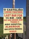 Lastste bar voor Cee, 15 km verderop