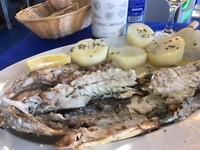 Verrukkelijke zeebaars gegeten