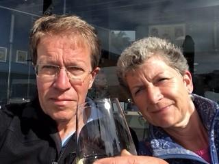 Selfie met de welverdiende wijn
