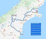 6. Nieuw Zeeland - Zuid eiland route