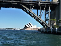 Terug bij het begin Harbour Bridge en Opera House - Sydney.