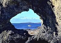 Narooma Rocks, een van de bijzondere rotsformaties hier.