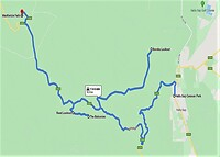 Route 27-12-2013 in The Grampians NP.