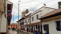 Het dorpje Zipaquira waar de Catedral de Sal in de zoutmijn is aangelegd.