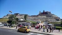 Het Fort Castillo San Felipe de Barajas van Cartagena, aangelegd door de Spanjaarden.