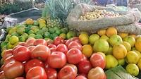 Kwalitatief goed groenten en fruit op de markt in Silvia, een bergdorp in de omgeving van Popayan.