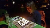 Judith wordt voor de 3de maal verwend met cake, dit maal in het restaurant.