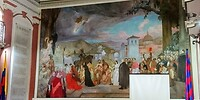 """De entree van het monumentale gebouw """"Teatro Municipal de Popayan""""._1514~2 (3)"""