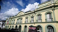 "Het prachtige monumentale gebouw ""Teatro Municipal de Popayan""."