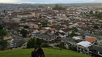 Uitzicht over de stad Popayan vanaf de heuvel Torre del Reloj.