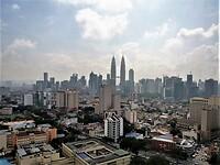 Kuala Lumpur Centrum met zicht op de Twin Towers.