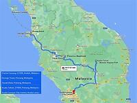 Route 2 Maleisië - Borneo 2014