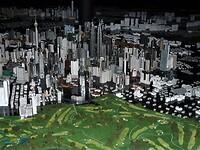 Maquette van de stad Kuala Lumpur.