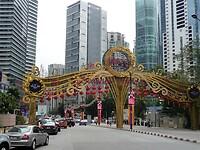 Centrum Kuala Lumpur klaar voor het Chinese Nieuwjaar.