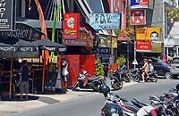 Winkelstraatje in Kuta.