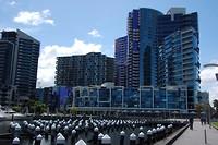 The architectuur aan de Docklands