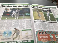 Aussies let the ball do the talking