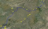 Route CfL 2014: van solar village Arso Amba naar solar valley Addis Ababa