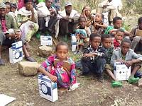 Scholieren van de Selelo primary school