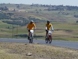 fietsen door het hoogland