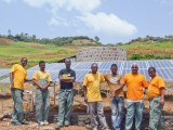 Zo. De zonnepanelen van de waterpomp zijn er klaar voor!