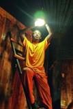 Installatie van zonlicht in een Tukul
