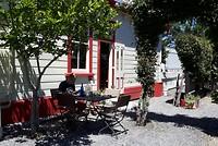 Koffie met taart bij oud station Mainwile