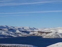 veel sneeuw onderweg van Argentinie naar Chili