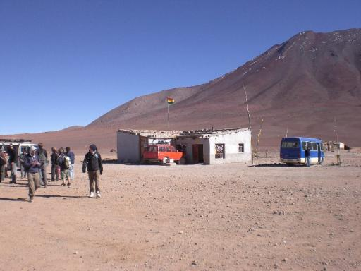 De grenspost in Bolivia