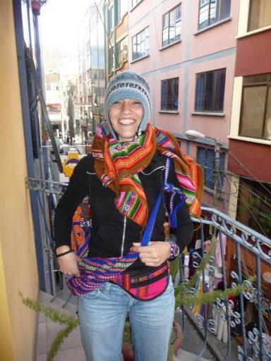 Majo na een dag shoppen in La Paz