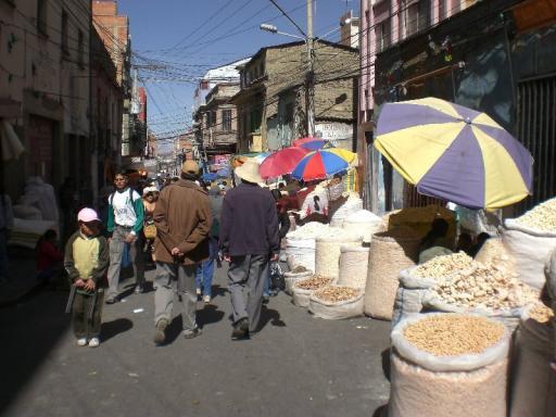 markt tijdens Gran Poder