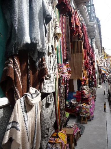 winkels in straat La Paz