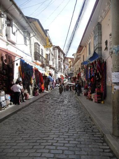 straat in La Paz