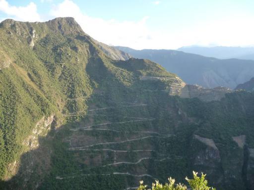 Eerste zicht op Machu Picchu