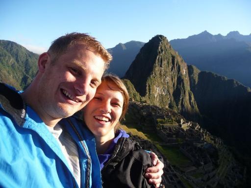 Daan en Majo en Machu Picchu