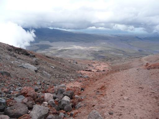 vanaf de vulkaan