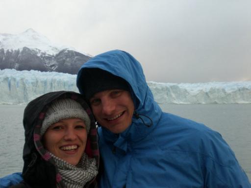 Majo & Daan bij Perito Moreno
