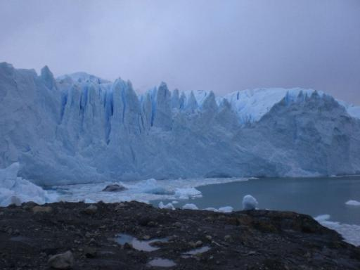 De gletsjer van dichtbij